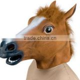 New Horse Unicorn Animal Head Mask Creepy Halloween Costume Theater Prop NoveltyNew Horse Unicorn Animal Head Mask Creepy MK051