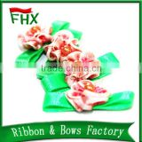 wholesale handmade satin ribbon flowers making for sale