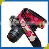 custom belt clip digital camera case colorful braided fabric polyester material travel strap belt splicing