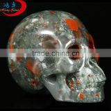 The LATEST Natural African blood stone Quartz Crystal Carving Skull For Decoration Collection, Present