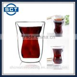 150ml Sexy Woman Double Layers High Temperature Resistance High Borosilicate Glass Material Wine Glass