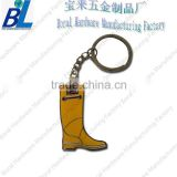 Custom creative rain boot metal key chain with gold plating