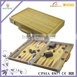 Bamboo Portable Backgammon Game Chess Set