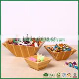 beautiful bamboo salad bowl, food container, Chinese new year candy tray