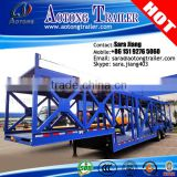 2016Top Ranking 8-10 Car Transporter Semi Trailer / Car Carrier Trailer with two single wheel axles