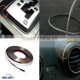 New fashion universal DIY car decorative silver chrome metal strips with adhesive