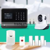 G90B wifi gsm gprs alarm system LCD display work with pet immunity pir sensor and smoke detector fire alarm system