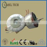 CE ROHS approoved 15VA 2*12V miniature 50/60Hz power transformer, low profile toroid, low profile ring core transformer