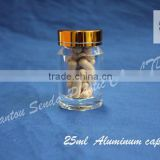 acrylic bottle,polystyrene plastic bottle with aluminium golden cap,acrylic bottle for pharmaceutical used