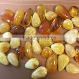 Natural Baltic Amber pendant, Amber caboshon irregular shape