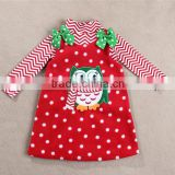 2015 children Chrismas girl long sleeve clothing sets, thick dress with t-shirt for winter