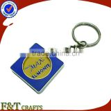 Custom cheap metal for supermarket trolley coin/supermarket shopping trolley coin locks/custom trolley coin keyring