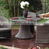 b&m garden furniture in brown flat wicker includes two sigle chairs and one small coffee table with 5mm clean glass table top