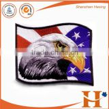 Custom high quality hook and loop fastener eagle patches