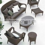 Brown Shapped Sofa with Chaise Lounge Popular in UGO Garden Outdoor Furniture