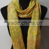 Printed Cotton/ Acrylic Blending Scarf 58%Cotton 42%Acrylic