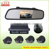 Hot-selling 4.3 inch car rear view mirror reversing backup camera parking sensors with distacne sensor                                                                         Quality Choice