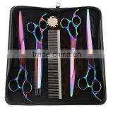 ebay amazon hot selling curved professional dog grooming hair scissors set