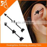 fake industrial piercing jewelry industrial arrow earrings