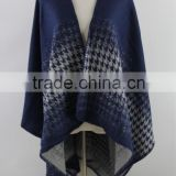 Women Capes Knitted Wool Scarf Poncho Shawl ,Winter Check Blanket Poncho