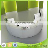 YS-RTC01 2016 new design white color cheap fitness center reception desk for fitness center