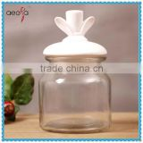 High Quality Mason Jars with Ceramic Lid Glass Pudding Jar
