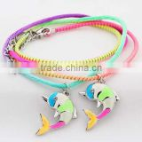 fashion high quality ultraviolet light change color and luminous dolphin bracelet jewelry