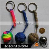 New Design Wholesale Fashion Monkey Fist Custom Colors Bag Hanger keychain