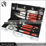 18 Piece Stainless Steel BBQ Grill Tool Set with Aluminum Storage Case