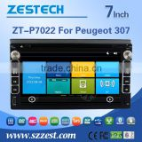 3G Phone GPS DVD BT car multimedia player for Peugeot 307 with Win CE 6.0 system 800MHz MCU