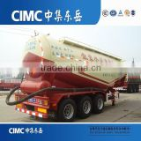 CIMC 55cbm Bulk Cement Tanker Trailer With Double Coin Tyre For Sale