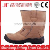 brown genuine leather steel toe cap high ankle safety boots liberty industrial safety boots men's work boots