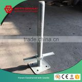 24'' Galvaznied Screw Jack Base with small angle holes for American Style Frame Scaffold