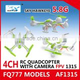 New Arrival AF1315 5.8G 4CH FPV Quadcopter with HD Camera and Real-time 5.8GHz transmission systems