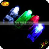 Wholesale led finger lights glow in the dark logo printed led finger ring flashing led light