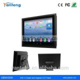 True flat seamless 12.1inch android industrial panel pc with energy-saving low power consumption