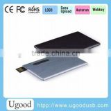 Super slim metal card USB drive, universal hot with real capacity flash memory, customized logo bulk cheap USB disk