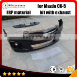 New Arrival!! cx-5 body kits fit for MAZDA` CX-5 style body kits FRP material front, rear bumpers and exhaust system