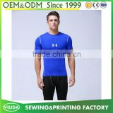 Cheap price mens 100% polyester slim fit gym fittness t shirt dry fit sport tee shirt