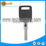 key case cover with chip groove and logo transponder key for Audi A4 A3 A6 TT Q5 Q7