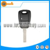 black one button remote key fob with logo and uncut blade chip groove for fiat brovo palio stilo doblo