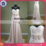 Draped sweetheart casual dress new styles of dresses made of chiffon
