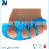 Silicone Gel Foot Fingers Two Holes Toes Separator Thumb Valgus Protector Bunion Adjuster Hallux Valgus Guard Feet Care