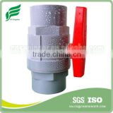 PVC TWO PIECES BALL VALVE(ABS HANDLE)