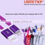 wholesale 2 in 1 two sided USB 2.0 AM to 8pin Dock USB Sync Charger Cable iP5 iP6 USB Cable