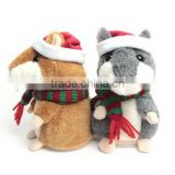 Christmas repeat talking hamster plush toy,electric pet hamster,talking hamster repeats what you say