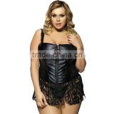 Factory price with excellent quality faux leather fat woman sexy corset