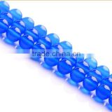 natural high quality blue agate round gemstone loose beads
