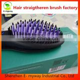 New Pro Ceramic Straightening Brush Electric Automatic Paddle Hair Straight Iron Brushes Straightening