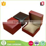 Alibaba China factory texture paper custom luxury watch packaging box with sponge insert